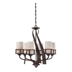 Kyle 6 Light Chandelier in Iron Gate
