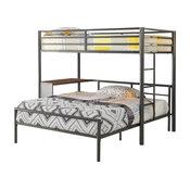 Metal Bunk Bed, Dark Gunmetal
