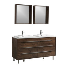 Aquamoon Roma 59 Rosewood Double Modern Bathroom Vanity