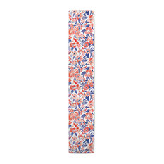 Red & Blue Patchy Flowers 16x72 Table Runner