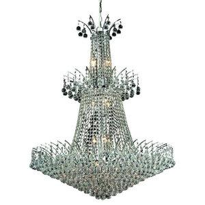 """Elegant Lighting Victoria 32"""" 18-Light Royal Crystal Chandelier"""