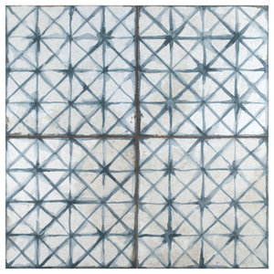 Royals Cathedral Ceramic Floor and Wall Tile, Blue, Sample