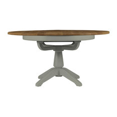 Somerdale Round Extendable Dining Table, Rockford Grey