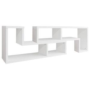 VidaXL TV Cabinet, Double L-Shaped, Oak, White