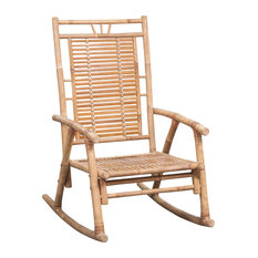 vidaXL Rocking Chair Bamboo Outdoor Patio Garden Porch Deck Seat Armchair