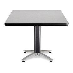 "OFM Mesh Base 42"" Square Table in Gray Nebula"
