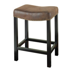 Armen Living - Tudor Backless 30  Stationary Barstool Covered A Wrangler Brown Fabric -  sc 1 st  Houzz & Leather Saddle Seat Bar Stools and Counter Stools | Houzz islam-shia.org