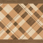 """Oshkosh Designs - Plaid Artisan Wood Medallion, 36""""x60"""", Unfinished, 5/16"""" - Charming and evocative. The Plaid Artisan Rug medallion from Oshkosh Designs recreates a pattern reminiscent of the woolen tartans used to represent the various clans of Scotland. Overlapping bands blend multiple shades of lush hardwood to create this memorable conversation piece."""