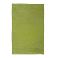 Colonial Mills, Inc - Colonial Mills Simply Home Solid H271 Bright Green Rug, 10x13 - Outdoor Rugs