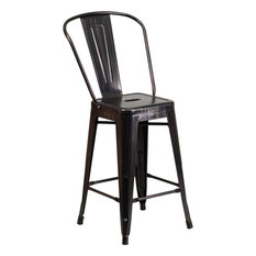 Flash Furniture 24H Black Gold Counter Height Stool