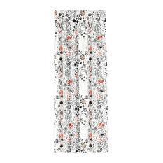"Blackout Curtain, Single Panel, Winter Botanical Red, 50""x120"""