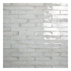 "Moze 3""x12"" Ceramic Subway Tile, Gray"