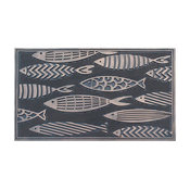 "Fish Rubber Pin Mat, Copper Hand Finished, Heavy Duty Doormat, 18""x30"""