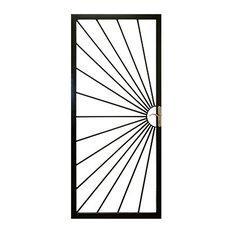 """Grisham - Sunshine Security Storm Door, Black, 36""""x80"""" - Door Entry Sets"""