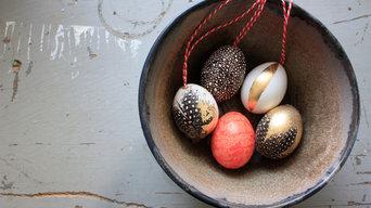 Oster-DIY: Wachteln, Washi und etwas Gold