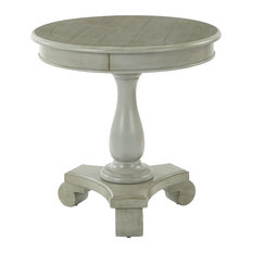 Office Star Products   Avalon Round Accent Table, Antique Gray   Side Tables  And End