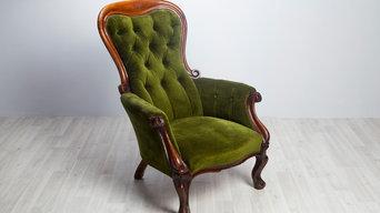 Старинное кресло в стиле бидермейер