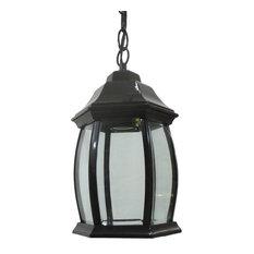 Epiphany - Black Cast Aluminum Hanging Exterior Light Fixture - Outdoor Hanging Lights