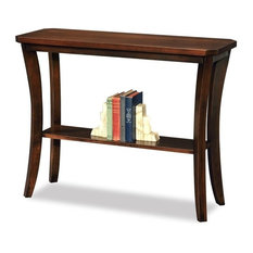Bowery Hill Console Table In Chocolate Cherry