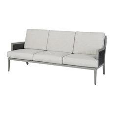 Drake Woven Sofa, Black/Cast Silver/Mist Woven