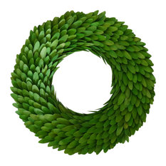 "18"" Woodchip Wreath / Wreath Color: Green"