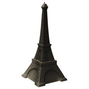 Minimalist Eiffel Tower Candle, Black