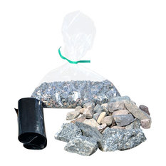 Dry Riverbed Kit for Miniature Garden, Fairy Garden