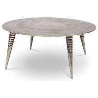 Triya Coffee Table, Vintage Silver