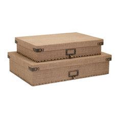 Corbin Document Boxes, 2-Piece Set