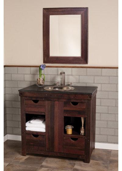 Eclectic Bathroom Vanities And Sink Consoles Native Trails - Cabernet Vanity