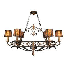 Fine Art Lamps 400740 Epicurean Charred Iron Island Light
