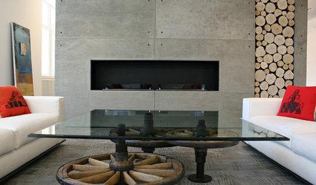 Houzz Армения: Квартира в Ереване с бетоном, ониксом и змеем-вишапом