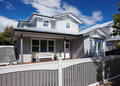 So you live in a weatherboard house for Weatherboard garage designs