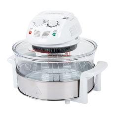 Classic Cuisine 12-17 Quart 1200W Halogen Tabletop Oven, White