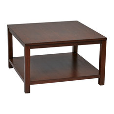 "Merge 30"" Square Coffee Table Mahogany"