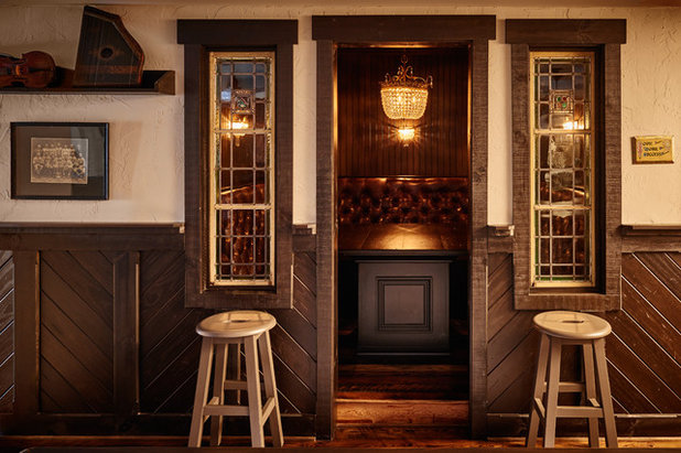 Simple Rustic Home Bar by New Old LLC