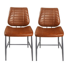 Liam Faux Leather Dining Chairs, Set of 2, Tan