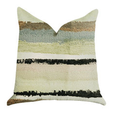 """Lime Stone River Sand Multi Color Luxury Throw Pillow, 18""""x18"""""""