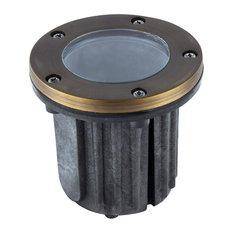 "Well Light D5"" H5.5""Antique Brassclear Glassmr16 Halogen 35W/LED Gu5.3"
