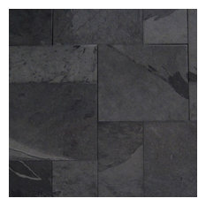 Gauged Montauk Black French Pattern Slate Tile, Sample