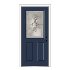 "Heirloom Master 1/2 Lite 2-Panel Naval Front Door, 33.5""x81.75"", Left Hand in-Sw"
