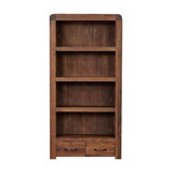 Shiro Walnut 2-Drawer Bookcase