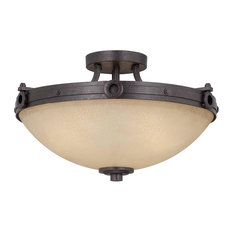 rustic semi-flush mount ceiling lights | houzz