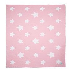 MICU MICU - Starry Baby Blanket, Pink - Baby Blankets