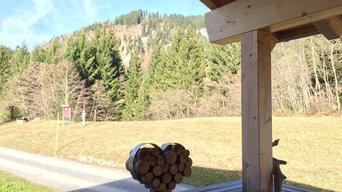 Ferienhaus aus massiven Dübelholz