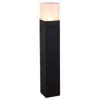 "24"" Modern Low-Voltage 10-Watt Integrated LED Outdoor Bollard, Matte Black"