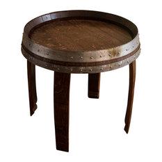 """Banded Wine Barrel Side Table, 22"""""""