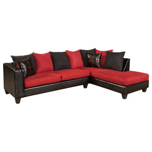 Reynaldo Sectional Denver Black, Nuovo Plum, Tudor Dahlia ...