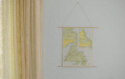 School Yourself in Making a Retro-Style Hanging Map