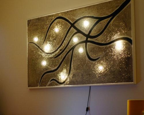 Wandbild U Beleuchtung Wanddeko.